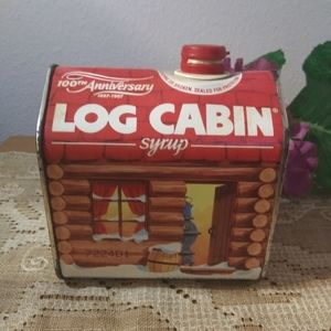 Vintage Log Cabin Syrup Tin 100th Anniversary